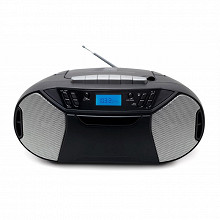 Thomson Lecteur radio cd portable mp3 usb cassette dab noir RK250UDABCD