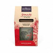 Bougie en verre ovale parfumée grenade d'Inde