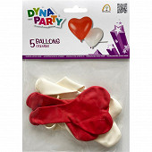 Ballons latex coeur x5