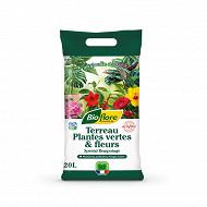 Terreau plantes vertes & fleurs 20 l
