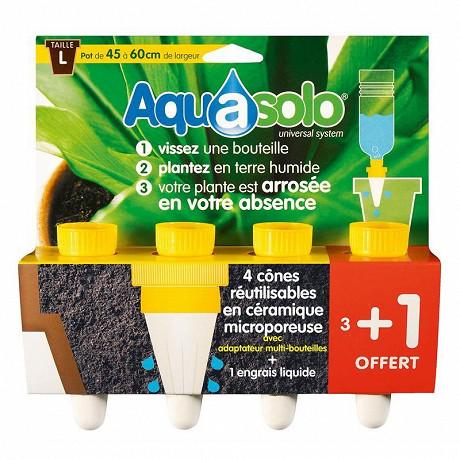 Aquasolo jaune large x4