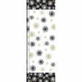 Nappe rouleau papier 1.38 x 6m symphonia black gold