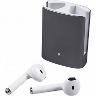 Bigben Ecouteurs bluetooth Gris+ Protection silicone Metal Buds