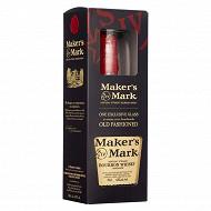 Coffret maker's mark bourbon whisky 70cl 45%vol + verre