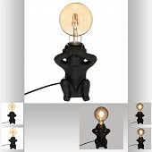 "Lampe"" singe"" céramique h17"