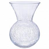 Vase boule évasé  craquelé h28