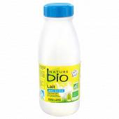 Nature Bio lait bouteille demi écrémé biologique stérilisé uht 50cl