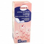 Cora protège-slip discret long fuites urinaires légères x20