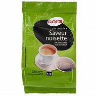 Cora café 10 dosettes pur arabica saveur noisette 70 g