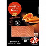 Cora dégustation saumon fumé Ecosse label rouge 2 tranches 80g