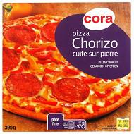Cora pizza chorizo cuite sur pierre 390g