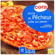 Cora pizza pêcheur cuite sur pierre 390g