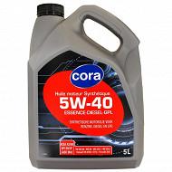 Cora huile moteur voiture synthèse 5W40 5 litres