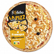 Sodebo la Pizz pizza 4 fromages fondants 470g