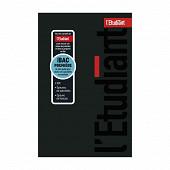 L'etudiant agenda bac prem noir 12x18 1 jour par page 352 pages