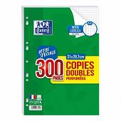 Oxford copies doubles perforées 200+100 pages 90g q5/5