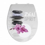 Abattant déco imprimé charnières plastique duroplast zen spirit