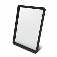 Miroir en plastique 17.5x12.5cm noir