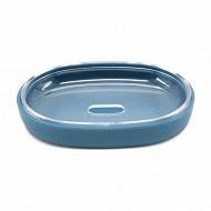 Porte savon plastique bleu de provence