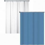 Rideau de douche péva blanc et bleu assortis 140x180