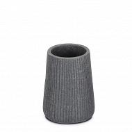 Gobelet polyresine striee gris ciment