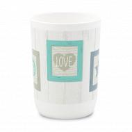 Gobelet plastique imprimé live love laugh