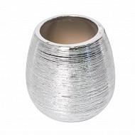 Gobelet céramique feuilete argent