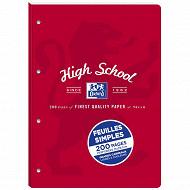 FEUILLETS MOBILES DETACHABLES OXFORD HIGHSCHOOL A4 200P E+P SEY.