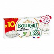 Boursin ail et fines herbes portion x10 - 160g