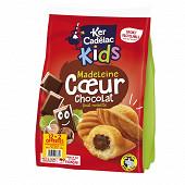 Ker cadelac sachet madeleines coeur chocolat noisette 420g 12+2