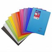 Clairefontaine cahier koverbook avec rabats grands carreaux 24x32cm 160 pages