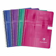 Clairefontaine cahier reliure intégrale 17x22 cm 180 pages seyes
