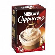 Nescafé Cappuccino - café soluble - 10 sticks - 140g