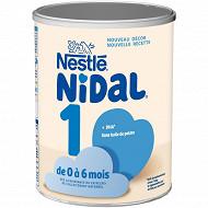 Nestlé Nidal Lait 1er âge dès la naissance 800g