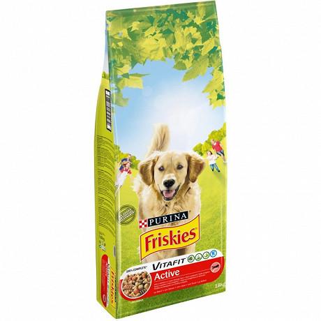 FRISKIES Vitafit Active Croquettespour chien adulte au Bœuf- 18 KG