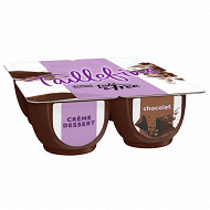 Danone Taillefine crème dessert au chocolat 4x120g