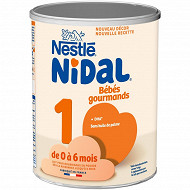 Nestlé Nidal Bébés Gourmands Lait 1er âge dès la naissance 800g