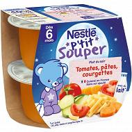 Nestlé P'tit Souper Tomates, pâtes, courgettes dès 6 mois 2x200g