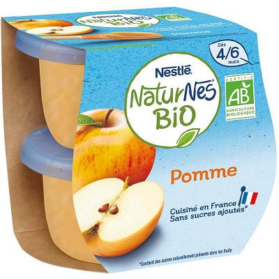 Nestlé Nestlé Naturnes Bio pomme dès 4/6 mois 2x115g