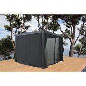 Rideaux et moustiquaire tonnelle bioclimatique 4x3