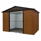 Yardmarster abri de jardin métal 12m surface hors tout aspect bois