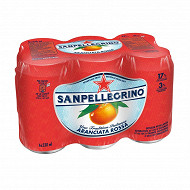 San Pellegrino eau gazeuse aromatisée orange sanguine 6x33cl