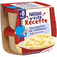 Nestlé P'tite Recette Parmentier de Cabillaud dès 8 mois 2x200g