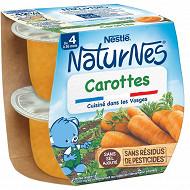 Nestlé Naturnes Carottes dès 4/6 mois 2x130g