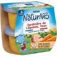 Nestlé Naturnes Jardinière de légumes, veau dès 6 mois 2x200g