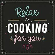 Serviettes x20 relax cooking 33x33cm 3 plis