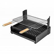 Somagic insert grilloir pour barbecue maconne ou cheminée