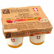 Patrimoine Gourmand yaourt sur lit de fruits jaunes 4x125g