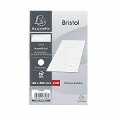 Exacompta 100 fiches bristol blanches non perforées 12.5x20 cm petits carreaux