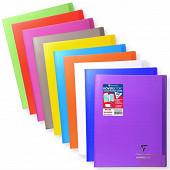 Clairefontaine cahier koverbook avec rabats petits carreaux 24x32cm 96 pages